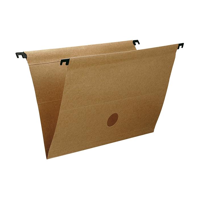 Plasticized Hanging Folder Kraft With Plastic Rod Dello
