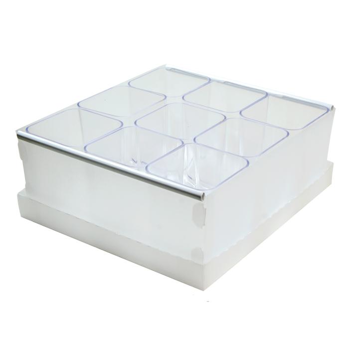 Caixa Organizadora de Objetos com 9 Porta Objetos Dello